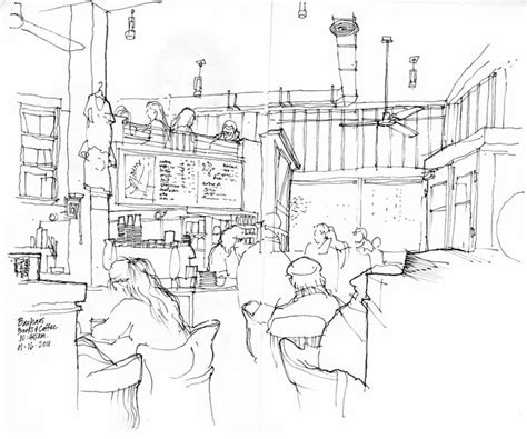 coffee shop design dwg urban sketchers seattle bauhaus coffee