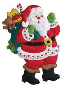 sale jolly santa faces bucilla felt applique tree 197 best felt kits images on