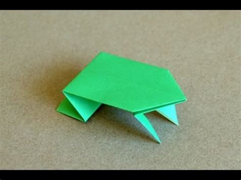 How Do You Make A Frog Out Of Paper - origami jumping frog www origami