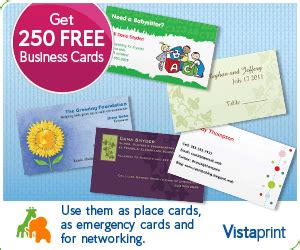 Vistaprint Gift Cards - vistaprint 250 free business cards frugal living nw
