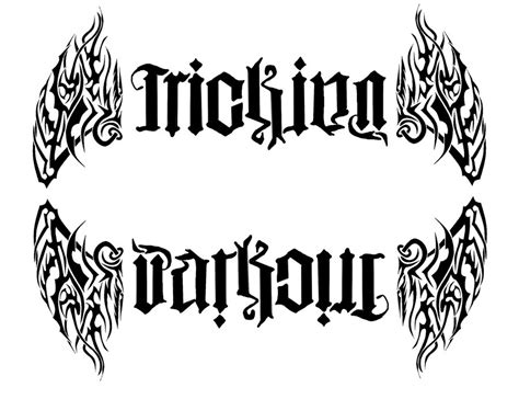 parkour tattoo designs ambigram tattoos and designs page 204