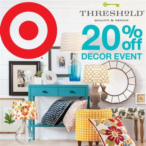 target home decorations target threshold home decor 20 off coupons all