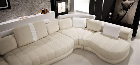 cream sectional sofa divani casa 6129 modern cream and white leather sectional sofa