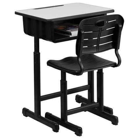 adjustable height desk chair adjustable height student desk and chair with black
