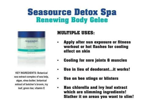 Arbonne Seasource Detox Spa 5 In 1 by Renewing Gel 233 E Renew Yourself With The Wonderful