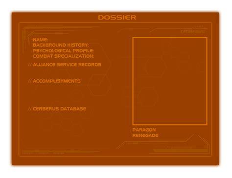 dossier template me shepard template dossier by xxshipuxx on deviantart