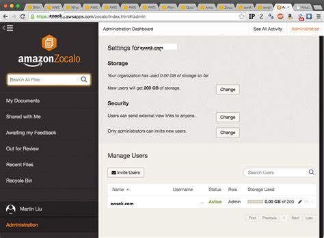 zocalo aws aws zocalo 企业网盘使用教程 awsok服务器代维工作室