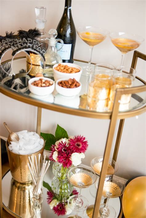 new year party decoration ideas at home the perfect nye bar cart cocktail my style vita