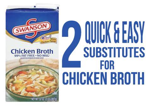 chicken broth substitute