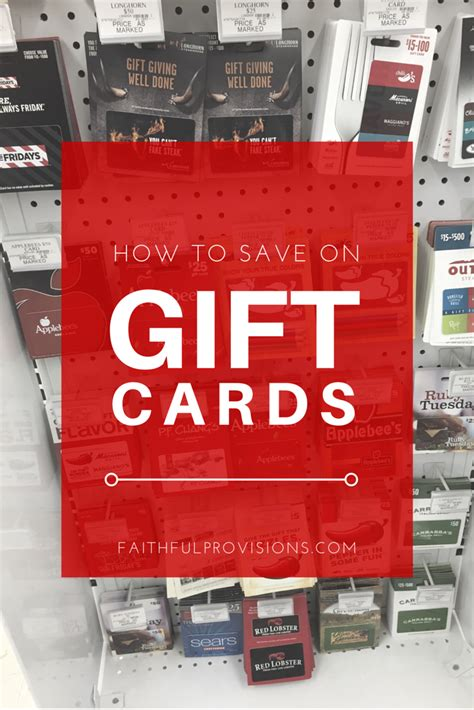Places To Get Gift Cards - how to save on gift cards faithful provisions