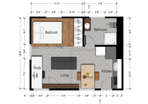 Apartment Blueprints by Studio Apartments Floor Plan 300 Square Feet Location