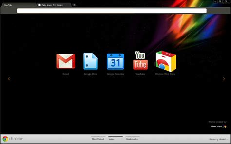 chrome night theme james white chrome web store
