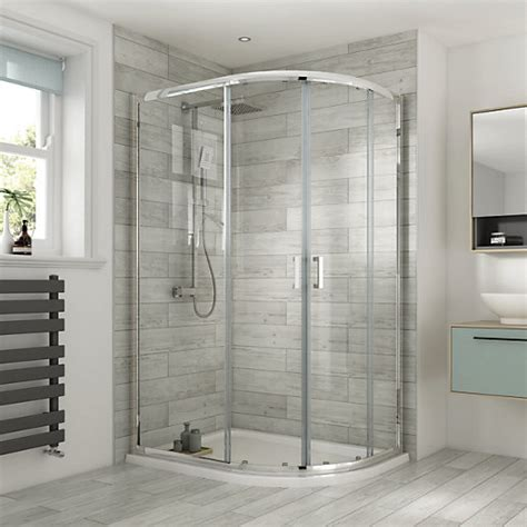 Wickes Shower Doors Wickes Semi Frameless Offset Quadrant 1200x800mm Wickes Co Uk