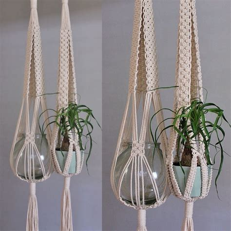 Macrame Flower Knot - tie intricately knotted macram 233 plant hangers