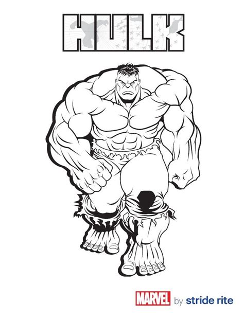 hulk coloring page andrews 6th bday pinterest
