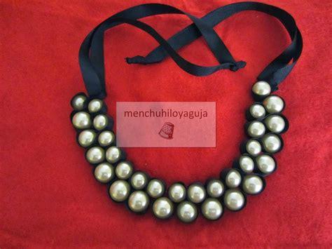 como hacer un collar c 211 mo hacer un collar de perlas y cintas patrones de