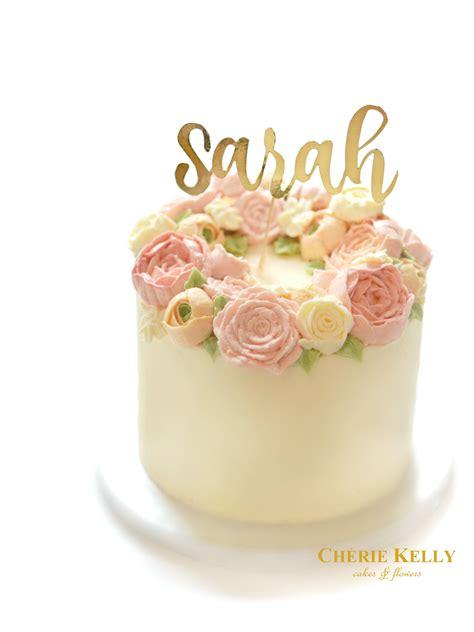 Butter Birthday Cake 1 birthday cake with buttercream flowers image inspiration