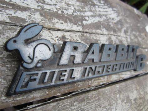 vintage volkswagen rabbit vintage car emblem volkswagen vw rabbit id badge plastic