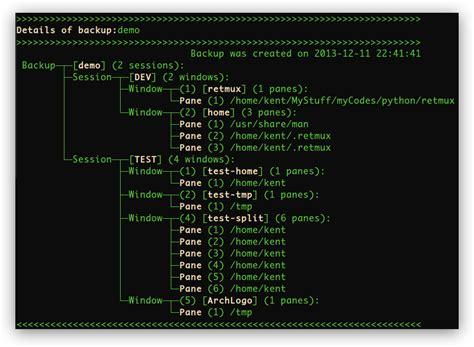 tmux layout names github sk1418 retmux a tmux sessions backup reload tool