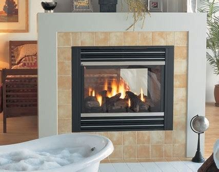 sided gas fireplace