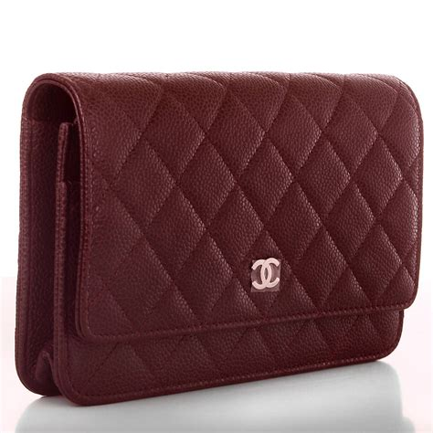 Ch Nel Woc Caviar 1 chanel burgundy classic quilted caviar wallet on chain woc at 1stdibs