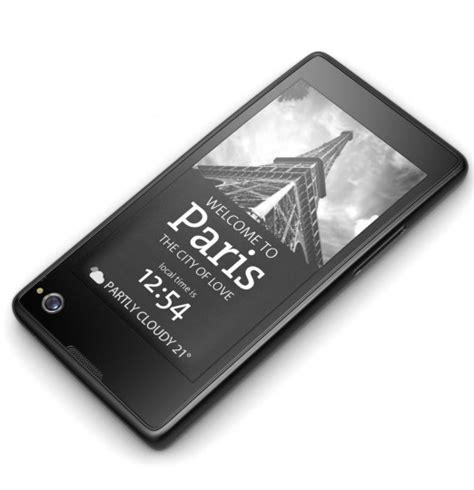e ink display mobile phone dual screen yota phone features an e ink display