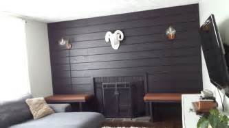 Black Shiplap Lilly S Home Designs Black Shiplap Fireplace Wall