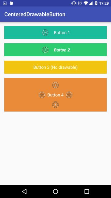 android layout z order centereddrawablebutton android custom button with centered