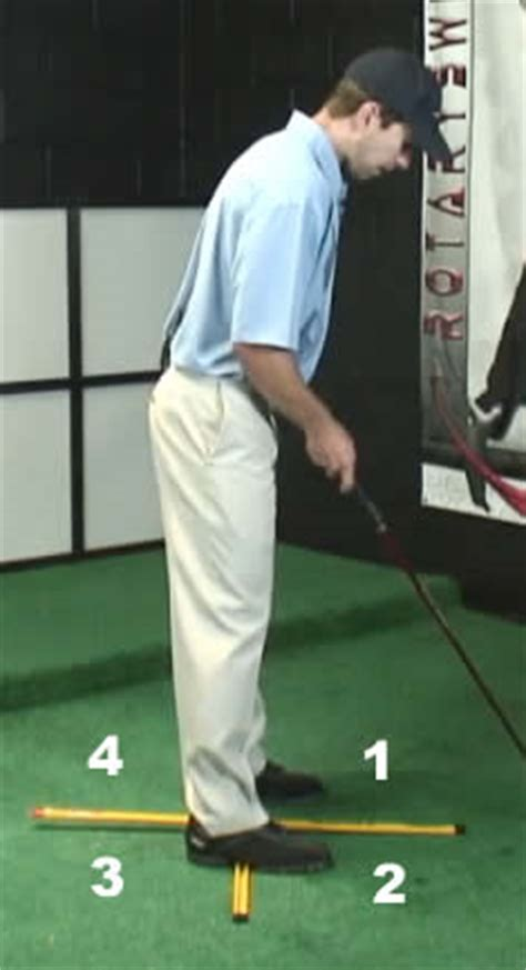rotary swing tour 4 square drill for an on plane golf takeaway and backswing