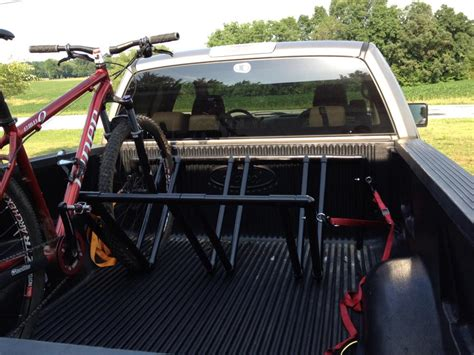 truck bed bike rack truck bed stand question mtbr com