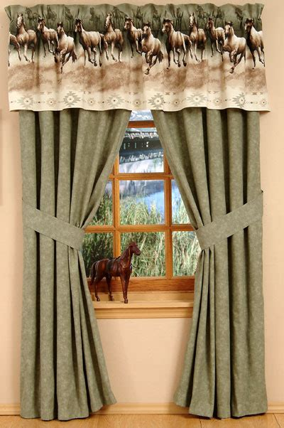 horse drapes kitchen curtains with horses curtain design
