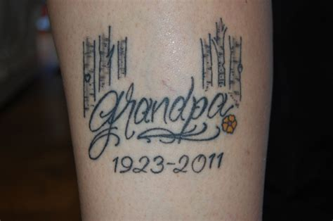 grandpa tattoos designs 18 memorial tattoos for