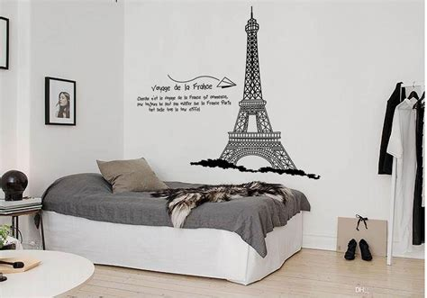 eiffel tower wallpaper for bedroom eiffel tower wall quote decal sticker home decoration