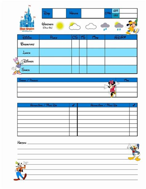 free printable disney vacation planner disney planner disney in a year or two pinterest