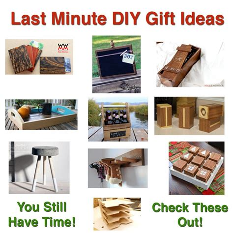 minute diy gift ideas wood projects diy