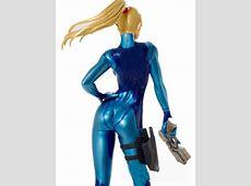 Samus Aran Shiny Metallic Zero Suit Samus Light Suit Cosplay