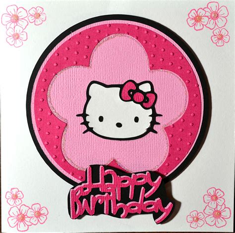 hello happy birthday card template hello cricut birthday card just4crafters