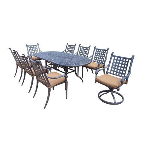Oakland Living Belmont 9 Piece Patio Dining Set with