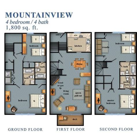 and bathroom floor plans mountainview 4 bedroom 21 44