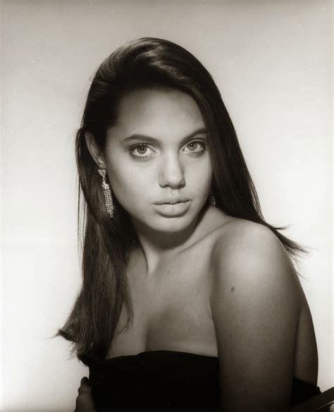 young celebrity photo gallery young angelina jolie photos 30 stunning black and white pictures of angelina jolie