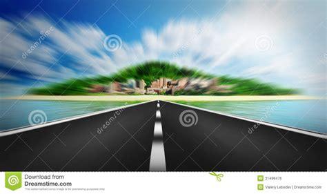 express road express road disappearing the horizon royalty free