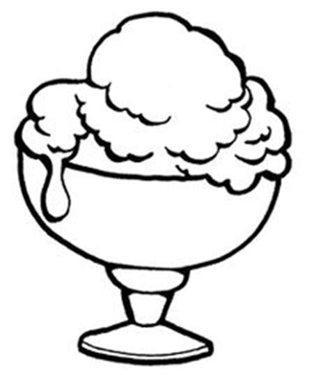vanilla ice cream coloring pages ice cream sunday outlines clipart best