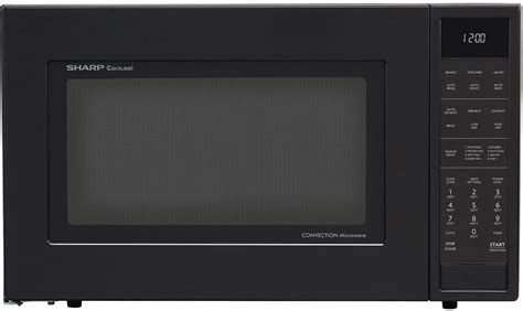 Microwave Sharp Second Sharp Smc1585bb 1 5 Cu Ft Countertop Microwave Oven With 900 Cooking Watts Convection Cooking