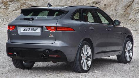 jaguar f pace grey 2017 jaguar f pace s color ammonite grey rear hd
