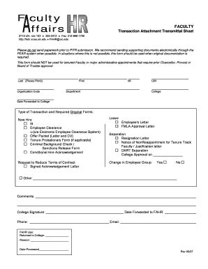 simple document transmittal form fill