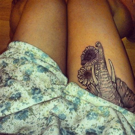 Elephant Tattoo Placement | elephant tattoo love the placement tattoo ideas