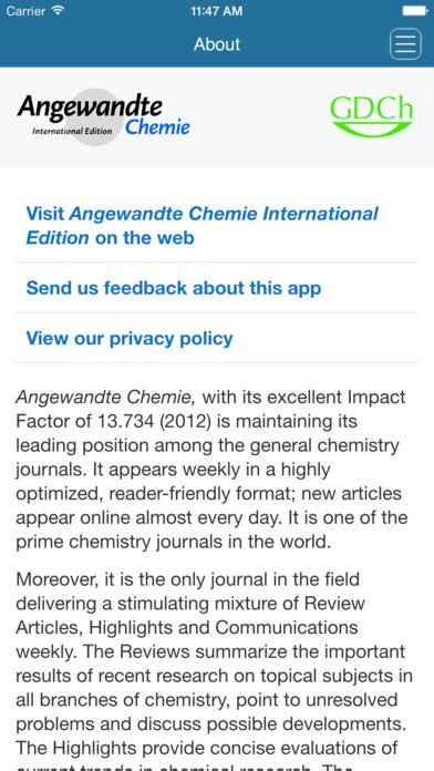 chemdoodle login angewandte chemie international edition on the app store