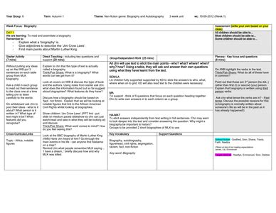 unit 7 biography and autobiography year 6 biography autobiography 3 week unit by