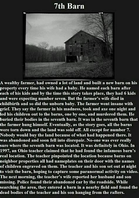 the 7th barn scary story scary stories and images