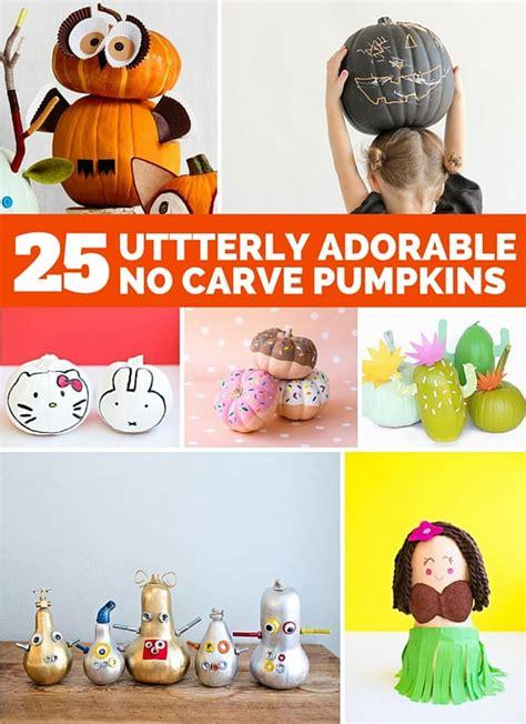 utterly adorable  carve pumpkin decorating ideas  kids